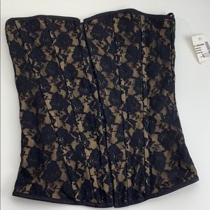 Gold with black lace corset